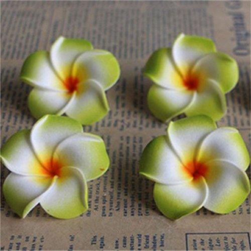 Suyunyuan Flowers 506cm Plumeria Home Dekoration Blumen Künstliche PE Fake Ei Schaumstoff Blume für Hochzeit Party Dekoration One Size Grün