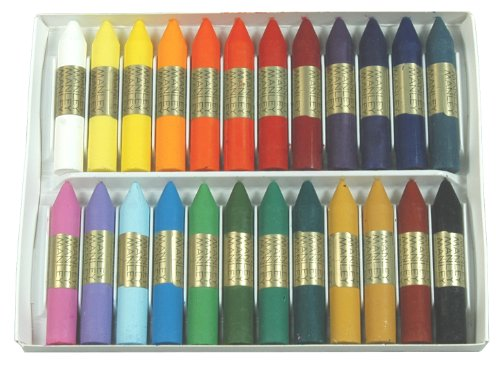 Kuresan oily wax crayons 24 colors ref.124 (japan import)