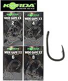 Korda Wide Gape XX Karpfenhaken (10 Stück), Angelhaken zum Karpfenangeln, Haken zum Karpfenfischen, Haken für Karpfen