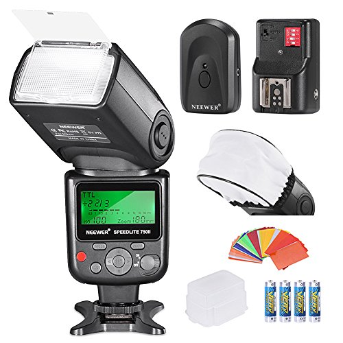 Neewer Pro i-TTL flash Deluxe kit per fotocamera DSLR