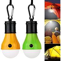 vitutech Campinglampe LED Light Lampe, Bright Licht für Camping Wandern Nachtangeln Notlicht, bewegliche, Birne, batteriebetriebenes, Außen-oder Innen, Green