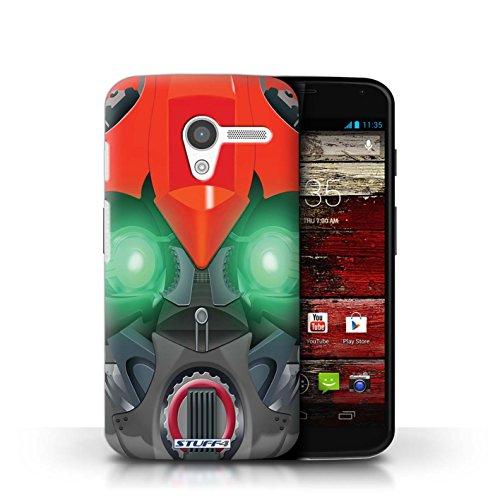 Coque de Stuff4 / Coque pour Motorola MOTO X / Opta-Bot Vert Design / Robots Collection Bumble-Bot Rouge