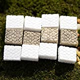 #4: Pinkdose® White: New 10Pcs Curved Path Stair Steps for Miniature Fairy Garden Home Decoration Mini Craft Micro Landscaping Decor DIY Accessories