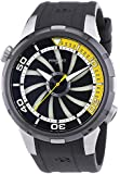 Perrelet Turbine Diver Men's Automatic Watch with Black Dial Analogue Display and Black Rubber Strap 1067/2