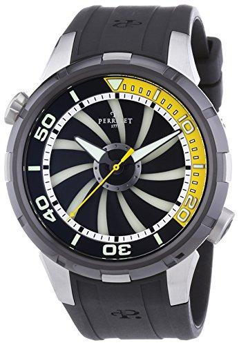 Perrelet 1067/2 - Reloj de automático para hombre, con correa de goma, color negro