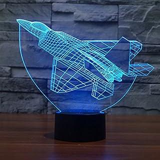 3D Lamp,Alisabler Amazing 3D Illusion Light aircraft Illuminated LED Desk Lamp Night Light