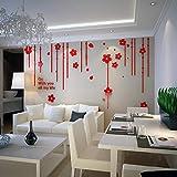 IKZA Wandaufkleber Moderne Modische Acryl Tapete Wandbild Wandtattoo, Wohnkultur für Wohnzimmer Schlafzimmer Küche Bad Restaurant Hintergrund, S