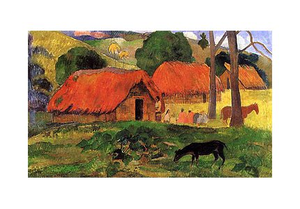 paul-gauguin-village-a-tahiti-impression-dart-print-8636-x-6096-cm