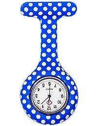 ShopyStore Style 6 Fashion Colorful Silicone Medical Nurse Watches Portable Brooch Fob Pocket Quar