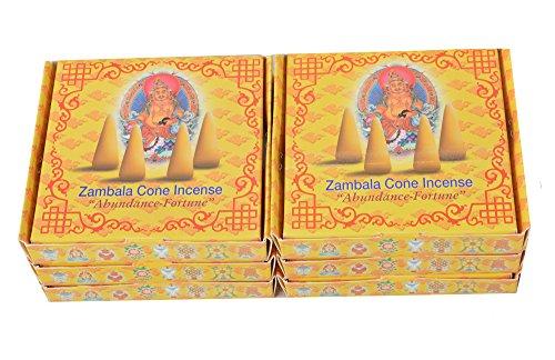 Bermoni Paquete de 5 inciensos de Cono de meditación Tibetano aromático bhután de...