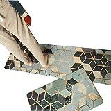 Viktion Anti Rutsch Küchenläufer Küchenteppich Wasserdichte Küche Bodenmatte für Küche Flur Teppichläufer/Flurläufer aus PVC für alle Böden (Mosaic, 45cm*150cm)