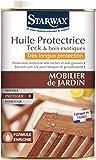 STARWAX Huile très longue protection pour mobilier de jardin en teck et bois exotique - 750 ml...