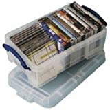 Really Useful Storage Box Plastic Lightweight Robust Stackable 9 Litre W255xD395xH155mm Clear - Ref 9C