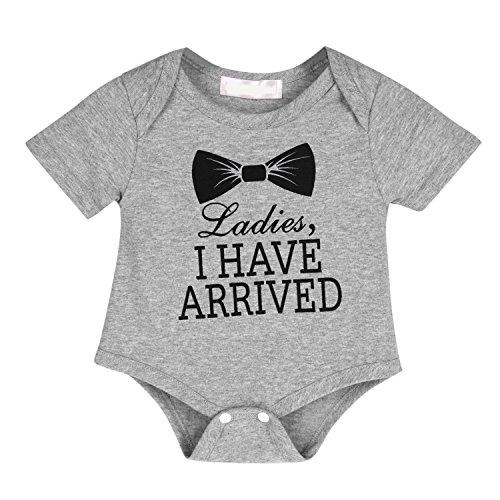 9e5c2964f22 CHIC-CHIC Newborn Baby Boys Girls Bowtie Short Sleeve Romper Jumpsuit  Bodysuit Playsuit Pyjamas Outfits (3-6 Months