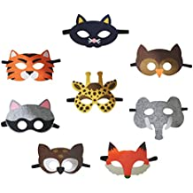 Petitebelle 8paquetes Animal gafas máscara Dress Up disfraz para niños de 2+