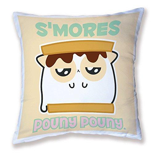 Coussin Pouny Pouny Big S'mores Grumpy Chamallow yummy, kawaii, Pastel et chibi - Fabriqué en France - Chamalow Shop