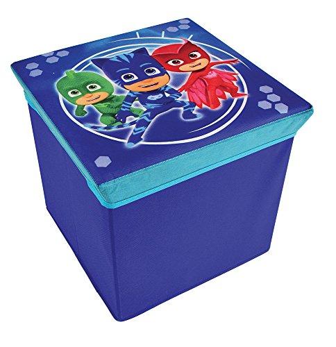 FUN HOUSE 712873 Tabouret de Rangement pour Enfant, PP/Carton, Bleu, 30 x 30 x 30 cm