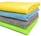 #5: HOME CUBE ® Pack Of 4 Kitchen Washing Cloths Dishcloths Rags Towel Microfiber Home Car Cleaning - 30 X 30 CM