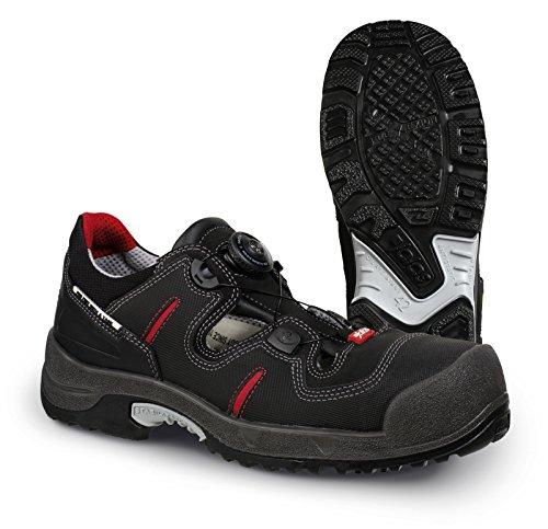 Jalas Sandales de sécurité 1708Zénith easyroll S1P src ESD noir/gris/rouge