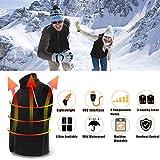 Beheizte Weste Herren - 5 Modus Einstellbar Beheizte Kältewiderstand - Elektronische Heizungskleidung Waschbar USB-Schnittstelle Jagdausrüstung für Motorradfahren Angeln Skilaufen Wandern Camping Golf - 5