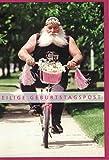 Witzige Glückwunschkarte zum Geburtstag ~ Eilige Geburtstagspost ~ Mann auf Fahrrad