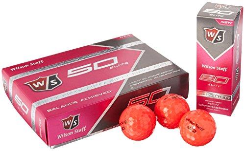 Wilson Staff Fifty Elite Golf Balls (12Pieces), Pink -