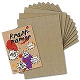 50 Kraftpapier-Karten DIN A5 Natur-Braun Umweltpapier 14,8 x 21,0 cm - 280 g/m² Recycling-Papier 100% ökologische Kraft-Papier-Bogen von Ihrem Glüxx-Agent