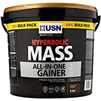 USN Hyperbolic Mass All-In-One Gainer Shake Powder, Chocolate, 6 kg