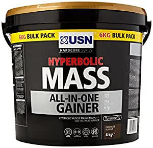 USN Hyperbolic Mass All-In-One Gainer Shake Powder, Chocolate - 6 kg