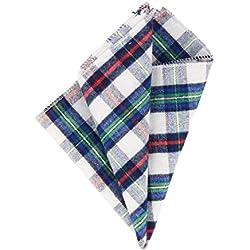 Andrews & Co. Pañuelo de tela escocesa Blanco Azul Verde Rojo