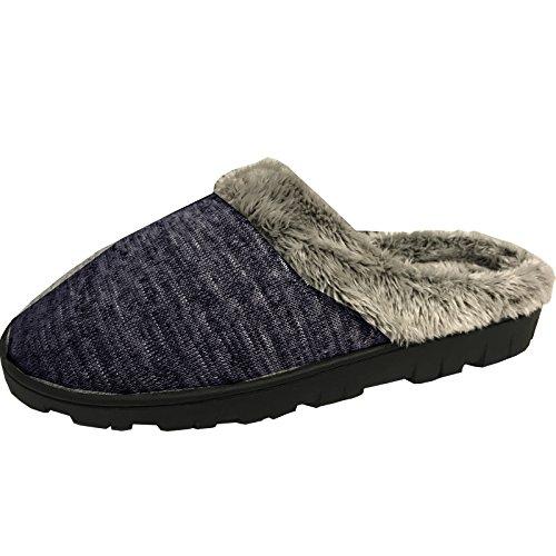 Damen Mädchen Hausschuhe von JEMIDI Schuhe Haus Schlappen Hüttenschuhe Pantoffel Pantolette (36, Blau)