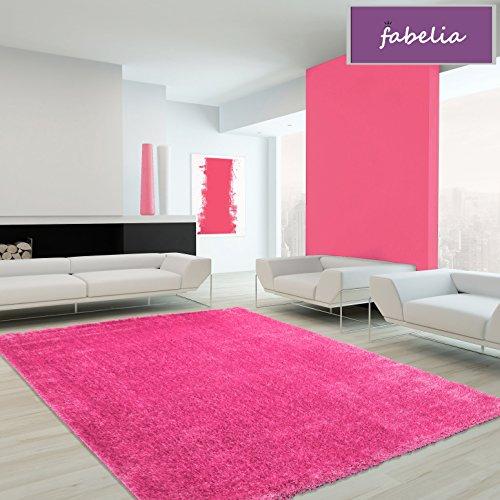 Hochflor Teppich Shaggy Flairy - Farbenfroh und Weich (120 cm x 170 cm, Pink/Rosa) -