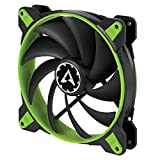 ARCTIC BioniX F140 - 140 mm Gaming Case Fan with PWM PST | Cooling Fan with PST-Port (PWM Sharing Technology) | Regulates RPM in sync - Green