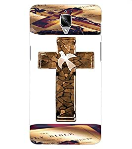 ColourCraft Holy Cross Design Back Case Cover for OnePlus Three