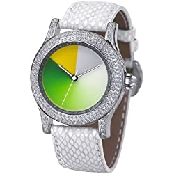 Rainbow e-motion of color Women's Automatic Watch EX44-SW-MGcl with Leather Strap