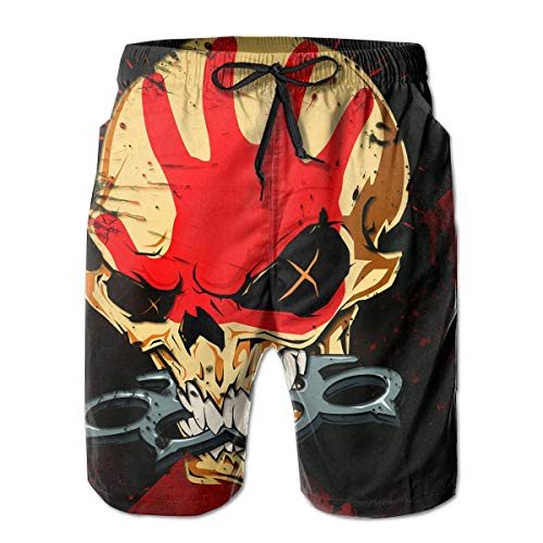 Five Finger Death Punch Man's 3D Print Graphic Quick Dr Boardshort Swim Surf Trunk Beach Swim Shorts XX-Large (Izod-uniformen)