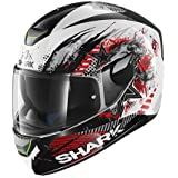 SHARK Casque Moto Skwal Switch Rider WKR, Noir/Rouge, Taille M