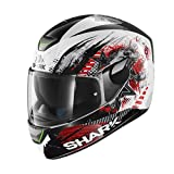 Shark Helm Moto Skwal Switch Rider WKR, schwarz/rot, Größe L