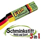 5er Pack - 3 in 1 Schminkstift FAN, Fanstift, Deutschland Flagge, Fanartikel,...