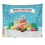 YiLianDa Tapices de Pared Home Dormitorio Tapiz Decorativo de Navidad Colgante Beach Blanket Picnic Alfombra 1 100