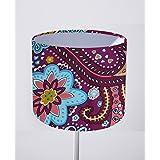 Lampenschirm handgemacht 20 cm Durchmesser aus Stoff //Blumen