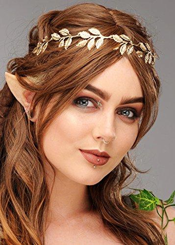 Prinzessin Womens Kostüm Elf - Magic Box Int. Woodland Elf Prinzessin Gold Leaf Krone Kopfstück