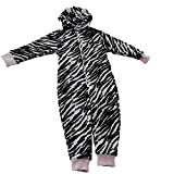 Search : ONEZEE Childrens Girls Zebra Leopard Hood Onesie All-In-One Super Soft Fleece