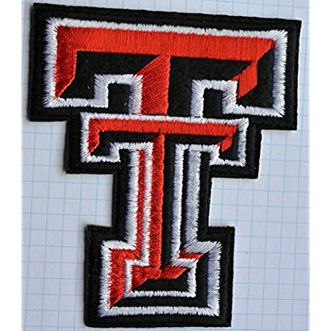 Texas Tech Red Raiders T Gamuza de bordado Iron on patches appliques