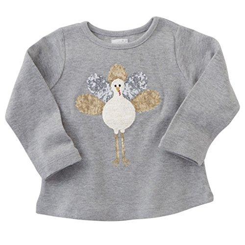 Mud Pie Baby Girl Thanksgiving Dazzle Tee T Shirt 1152101 (Small