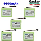 Kastar 5-PACK AA3 3.6V 1600mAh MSM Ni-MH Rechargeable Battery For Panasonic Type 1 P-P501 PP501 P-P501A PP501A P-P501PA P-P504 PP504 P-P508 P-P508A P-P510 P-P510A PP510A