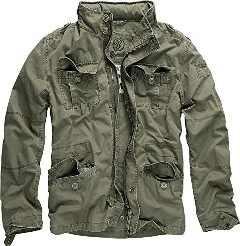 Brandit M65 Britannia - Chaqueta acolchada para hombre, estilo callejero, verde, oliváceo, XXL