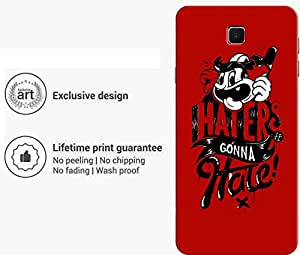 """Humor Gang haters gonna hate Printed Designer Mobile Back Cover For """"Samsung Galaxy On8"""" (3D, Matte Finish, Premium Quality, Protective Snap On Slim Hard Phone Case, Multi Color)"""