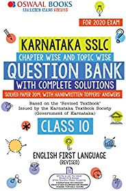 Oswaal Karnataka SSLC Question Bank Class 10 English Ist Language Book Chapterwise & Topicwise (For March