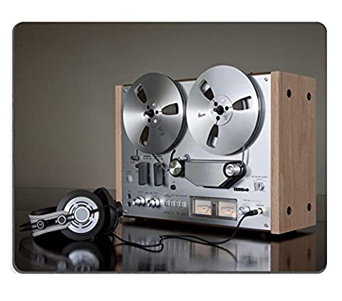 MSD Natural Rubber Gaming Mousepad IMAGE ID: 8888683 Vintage Reel to Reel stereo tape deck recorder by MSD